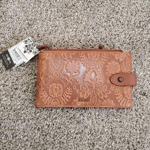 The Sak leather floral embossed wallet